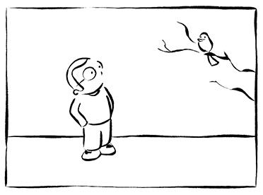 Didier Martin, Lausanne, contemplation, méditation, oiseau, balade