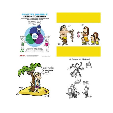 Didier Martin, patchwork dessins, illustrations, Lausanne